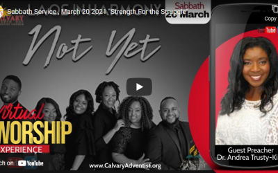 Sabbath Service – March 20, 2021