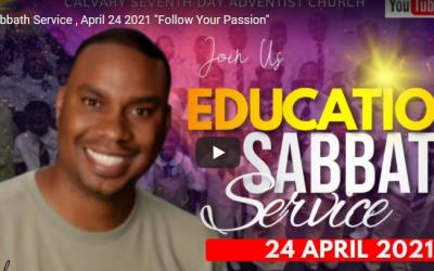 Sabbath Service – April 24, 2021