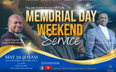 Sabbath Service – May 29, 2021