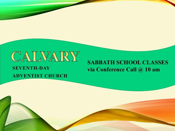 Calvary Sabbath School Classes