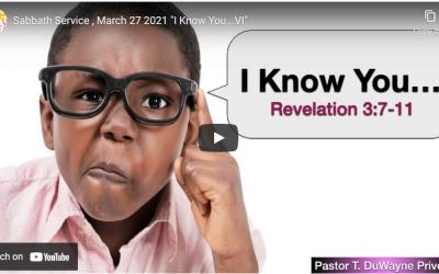 Sabbath Service – March 27, 2021